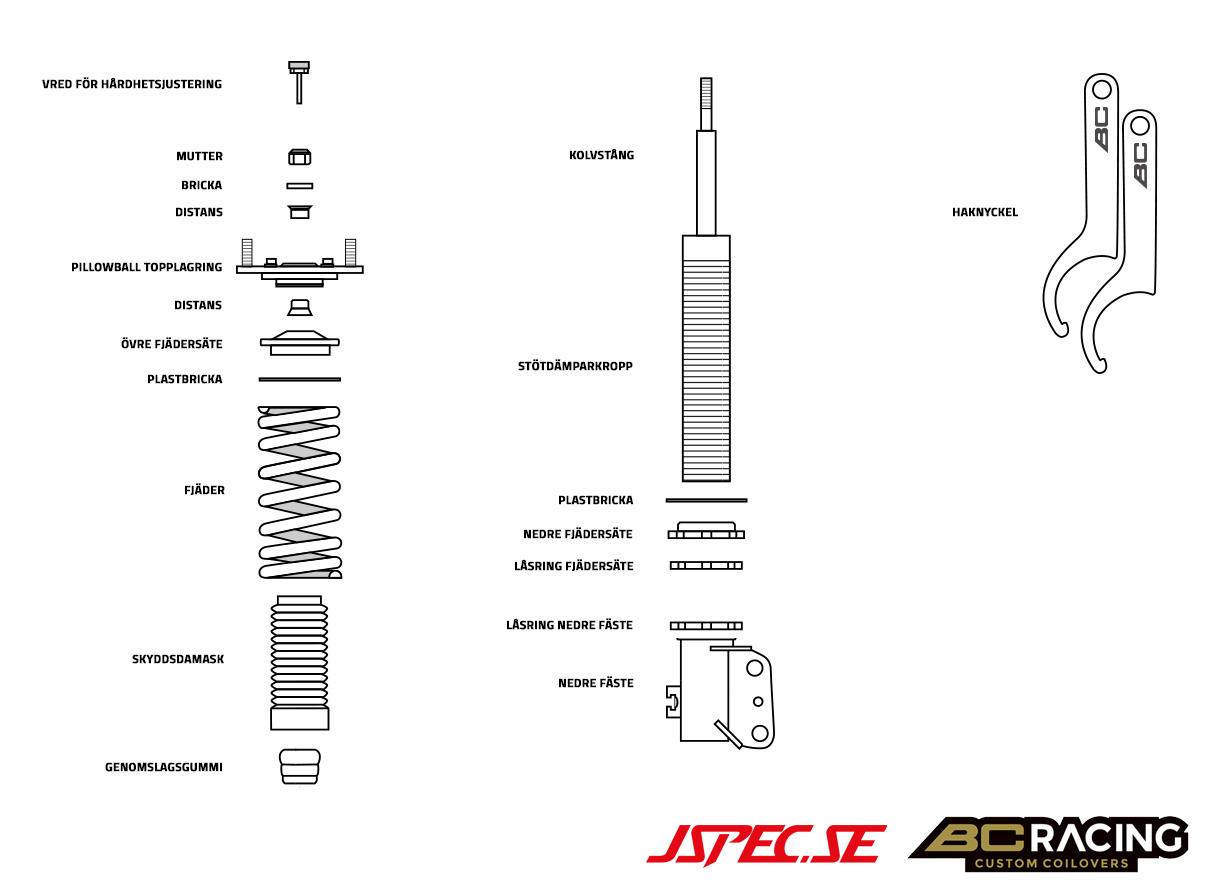 JOM Car Parts /& Car Hifi GmbH 10012 C-spanner for coilover kits